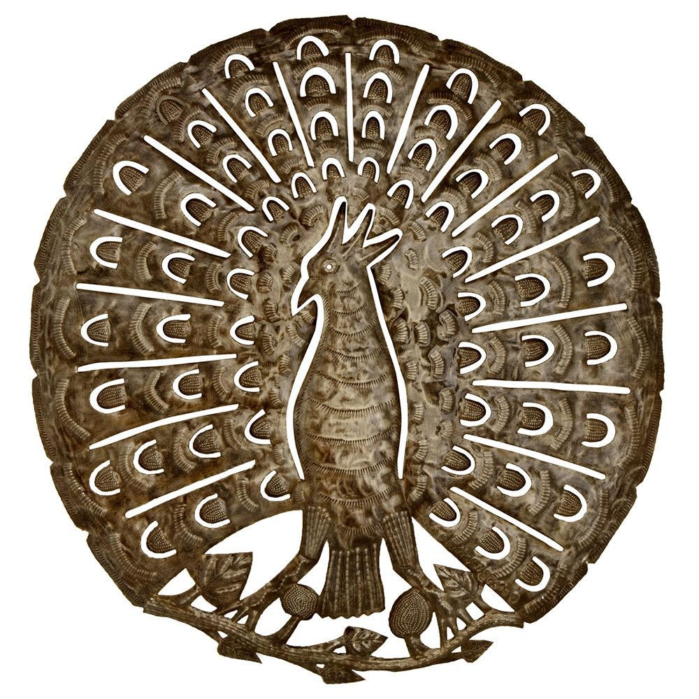 Glory of the peacock metal wall art products pinterest metal