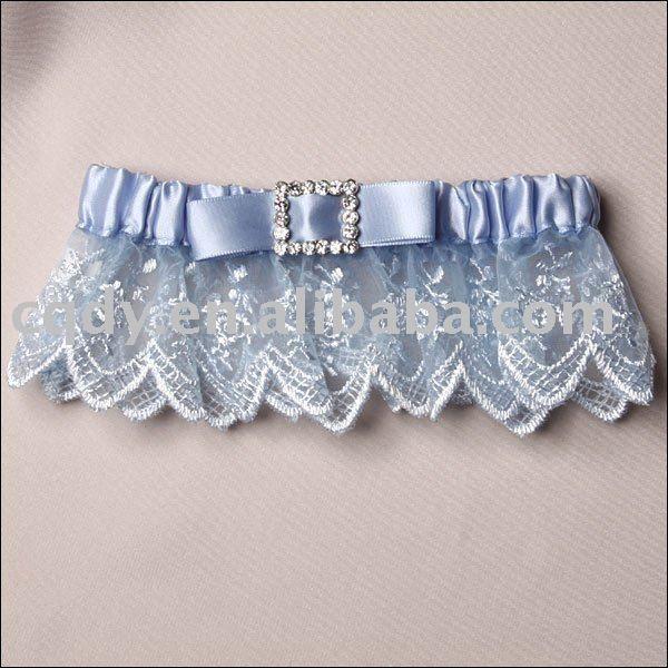 Blue Garter Belts For A Wedding