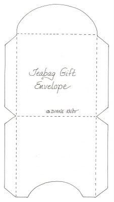 tea bag envelope pattern crafty ideas templates envelope paper