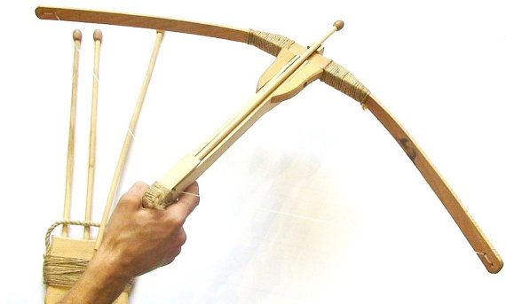Crossbow, Medieval crossbow, Wooden Toy Crossbow, Archery