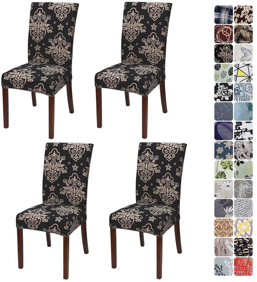 Jotom Stuhlhussen Universal Stretch Stuhlbezug Elastische Moderne Stuhl Hussen Set Abnehmbare Dekoration Stuhlabdeckung Stuhlbezuge Stuhlhussen Moderne Stuhle