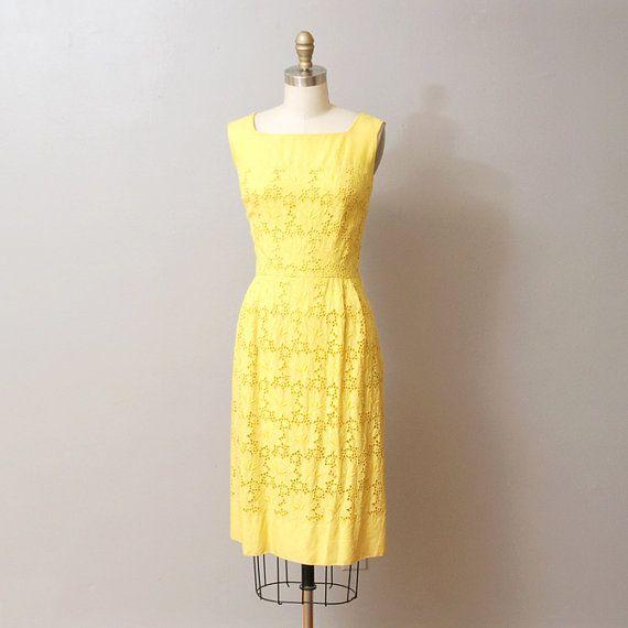 INCREDIBLE 50s60s Leaf print pleated dress ML