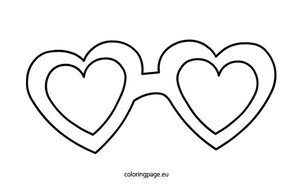 Hearts Shaped Glasses Coloring Page Heart Coloring Pages Heart Shaped Glasses Coloring Pages