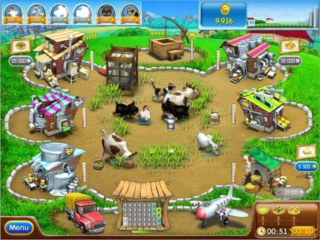 العاب فرايف جيمز لعبة المزرعة Farm Frenzy Games Fun Online Games