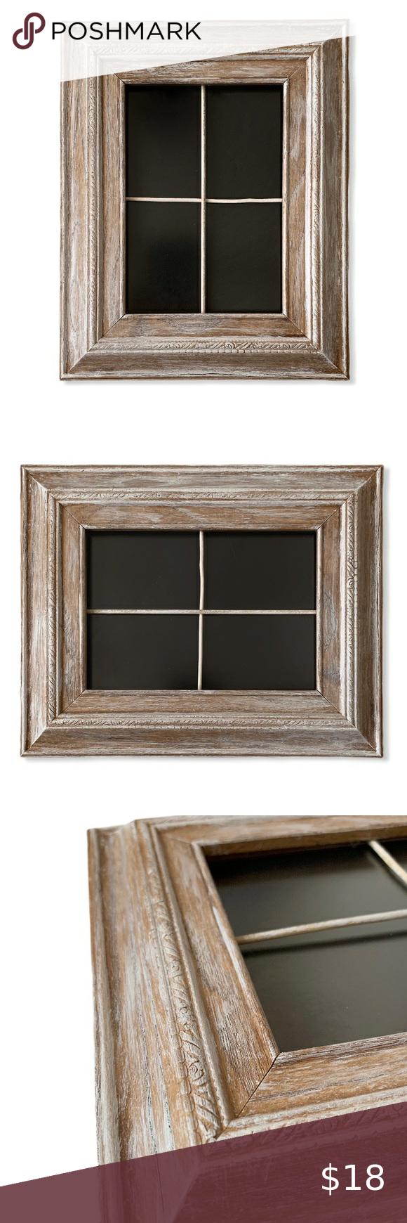 Windowpane Picture Frame Wood Whitewashed 5x7 Farmhouse Shabby Chic Rustic Whitewashed Wood Window Pane Picture Frame For 5x7 P Picture Frames Wood Frame Wood