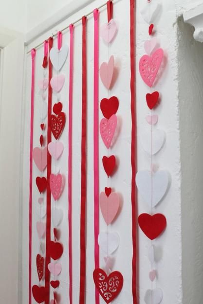 Making Hearts Decorations with Kids, Paper Crafts for Valentines Day