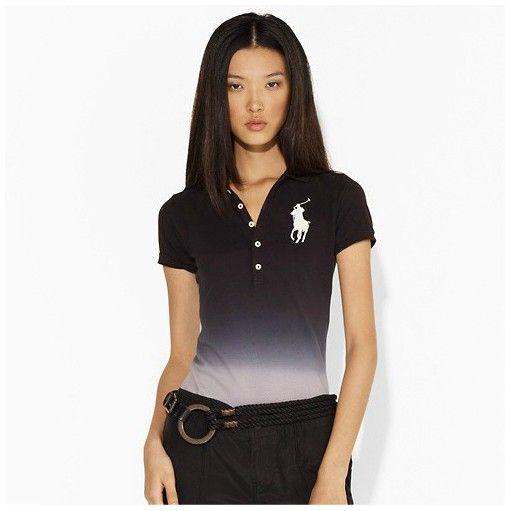 Polo Ralph Lauren femme givenchy Lana long Placket stretch Polo en Vert