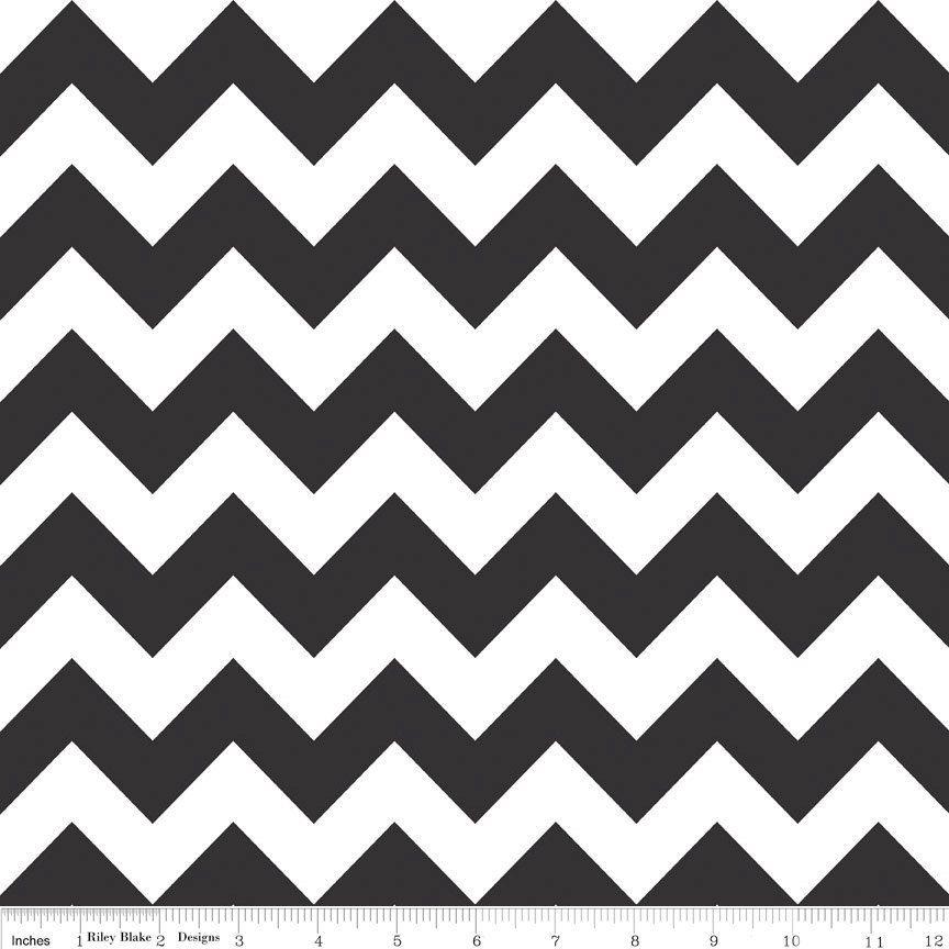 Black and White Chevrons Fabric - Riley Blake-black chevron fabric ...