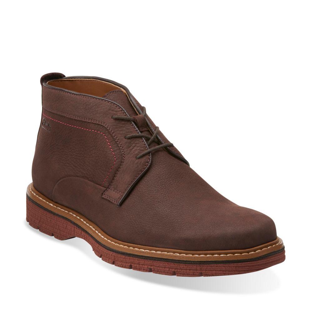 Newkirk Top Dark Brown Nubuck Mens 1825 Shoes Clarks