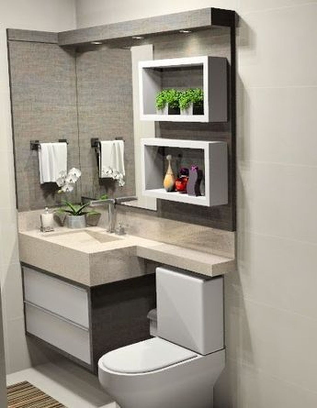 Nice 20 Elegant And Simple Bathroom Designs For Small Spaces More At Https Www Trendecor Modern Small Bathrooms Small Bathroom Decor Small Bathroom Remodel