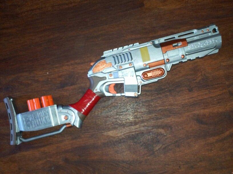 Nerf Zombie Stike Sledge Fire Blaster Gun Shotgun Tested And Working