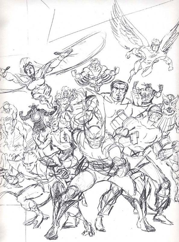 The Evolution Of Classic X Men 1 By Arthur Adams John Romita Sr