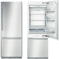 Bosch 30 Inch Refrigerator B30bb830ss Open Closed