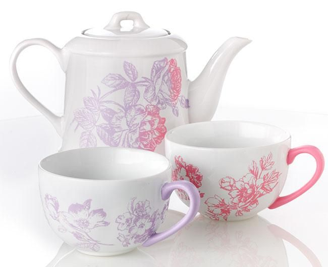 Paint this pretty tea set for your Mom this Mother's Day. Get all the #marthastewartcrafts supplies you need at @Michaels Stores