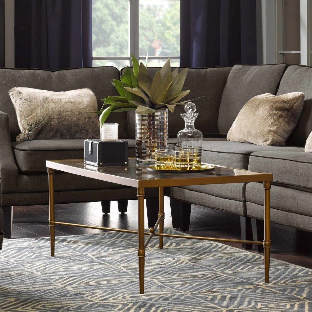 Madison Park Signature Porter Modern Glam Bronze Rectangle Coffeel Table Free Shipping Today Oversto Coffee Table Coffee Table Rectangle Coffee Table Frame [ 1000 x 1000 Pixel ]