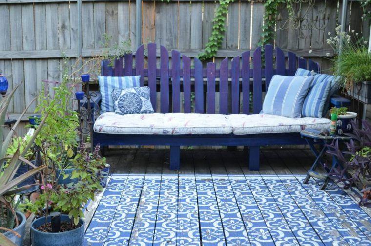 salon de jardin en palette : idée de couleur de peinture ...