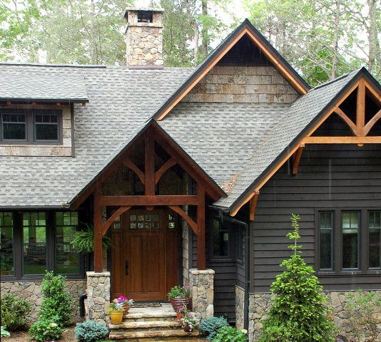 Modern Gray Exterior With Steel Beams: 104 Best Rustic Modern Exteriors