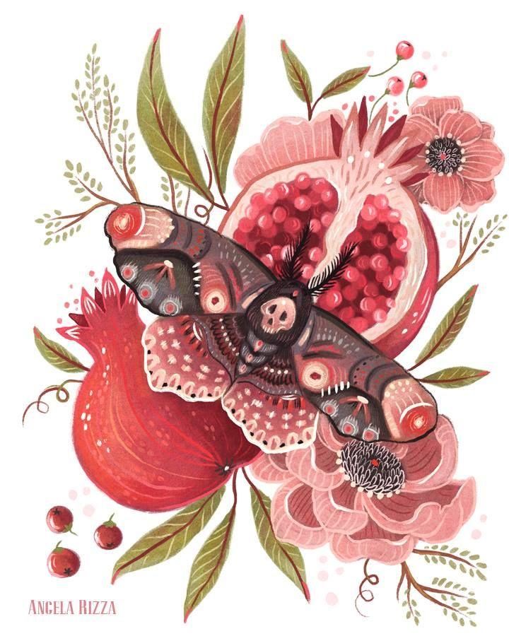 Angela Rizza Illustration - very Persephone. | Art, Art