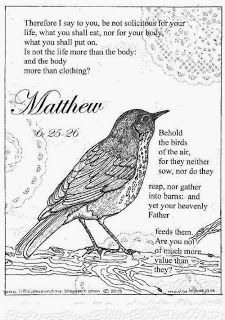 Little Jesus and Me: Coloring Pages: Matthew 6: 25-26