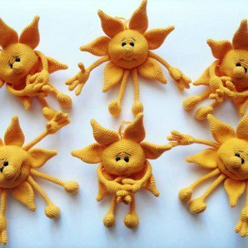 Вязаное солнце. Крючком. Схема
