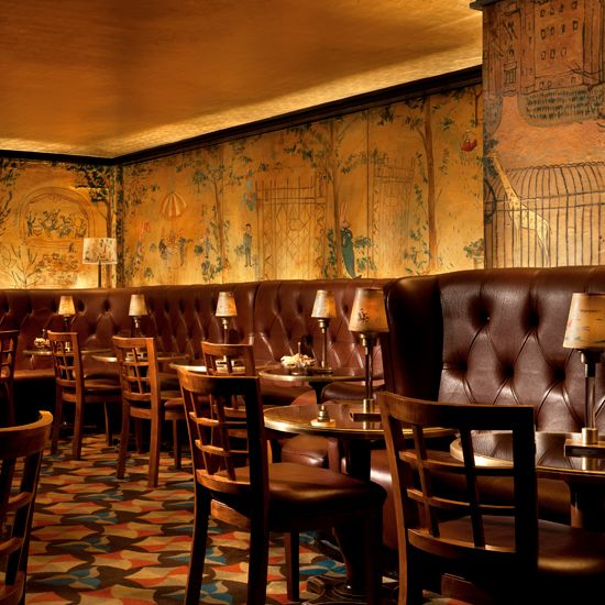 Bemelmans Bar, at the Carlyle, New York City. Check out the mural from