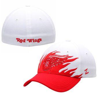 Detroit Red Wings Zephyr Flame Flex Hat – White