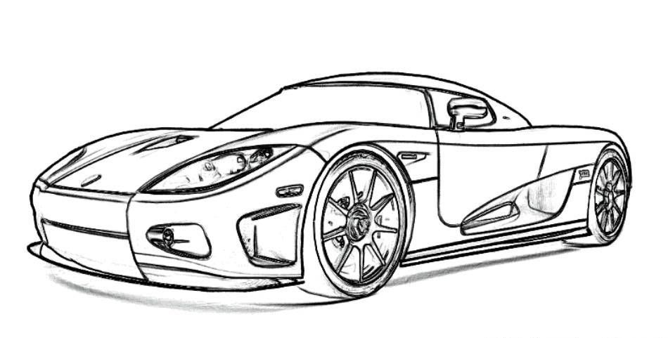 Koenigsegg Sports Car Ccx Coloring Picture Cars Coloring Pages Sports Coloring Pages Race Car Coloring Pages
