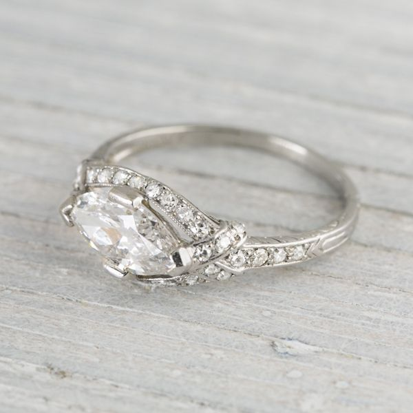 Image of 1.18 Carat Vintage Tiffany & Co. Diamond Engagement Ring...@Rachel Treppler this is what I was talking about with grandmas ring