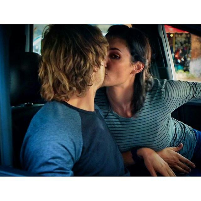 kensi kissing deeks after he told her his big secret