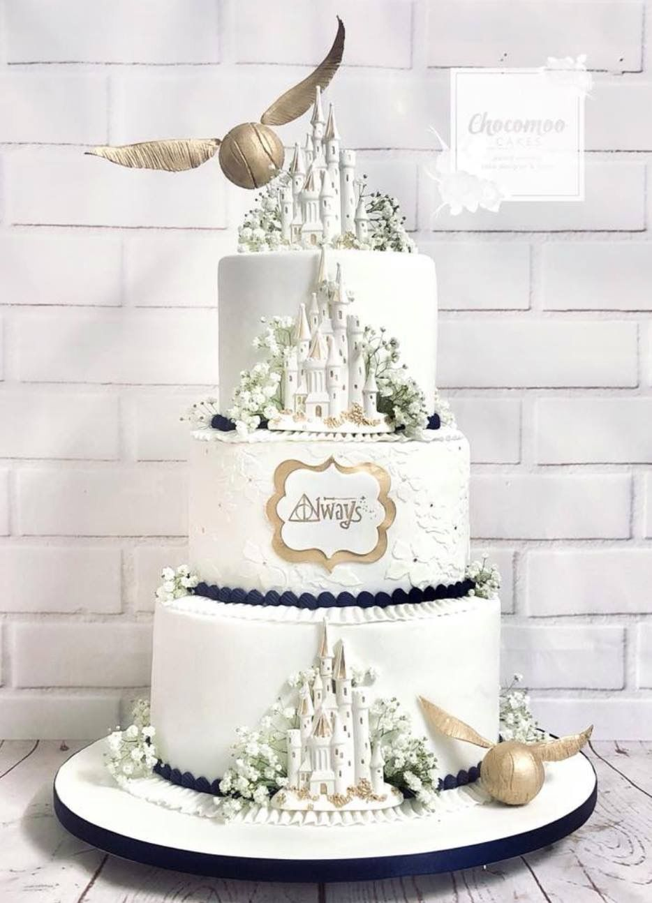 Harry Potter Wedding Cake.Pin By Taystormy On Cake Idea In 2019 Harry Potter Wedding