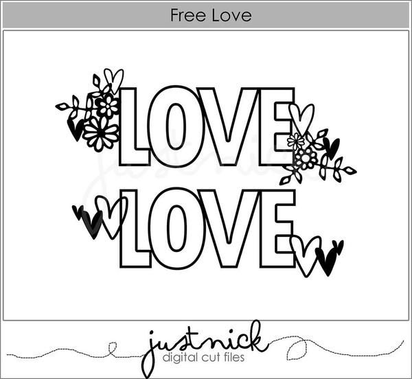 Hi Just Nick Fans! Michelle here with my take on the gorgeous freebie cut file 'Free Love'.  I really loved this file and it was so easy to use, I love that it