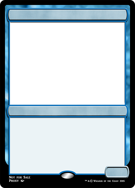 MTG M15 Blue Creature Frame | Magic The Gathering Proxies ...