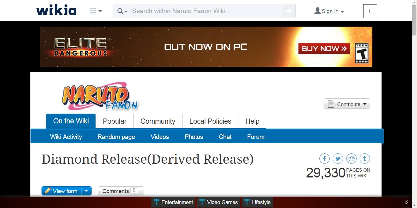 Diamond Release(Derived Release) Naruto, Kekkei genkai