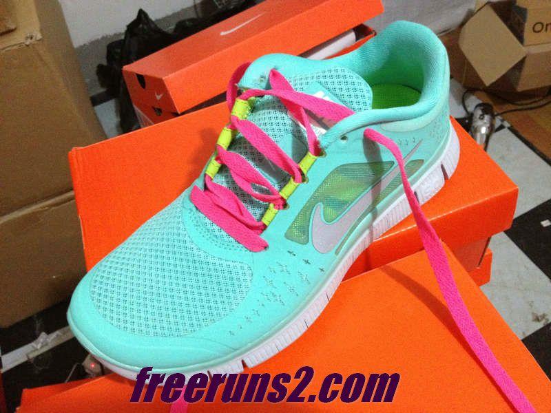 Womens Nike Free Run 3 Tropical Twist Reflect Silver Pure