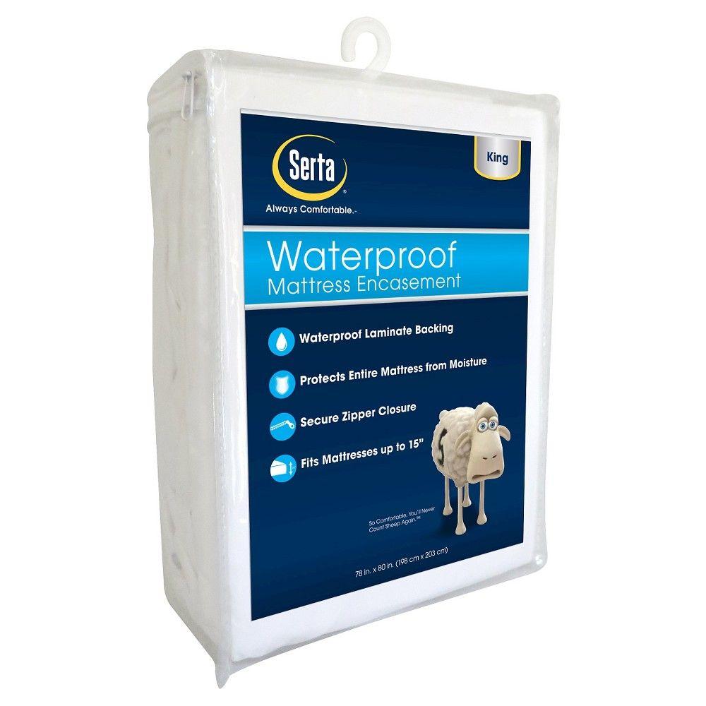Waterproof Mattress Protector White King Serta