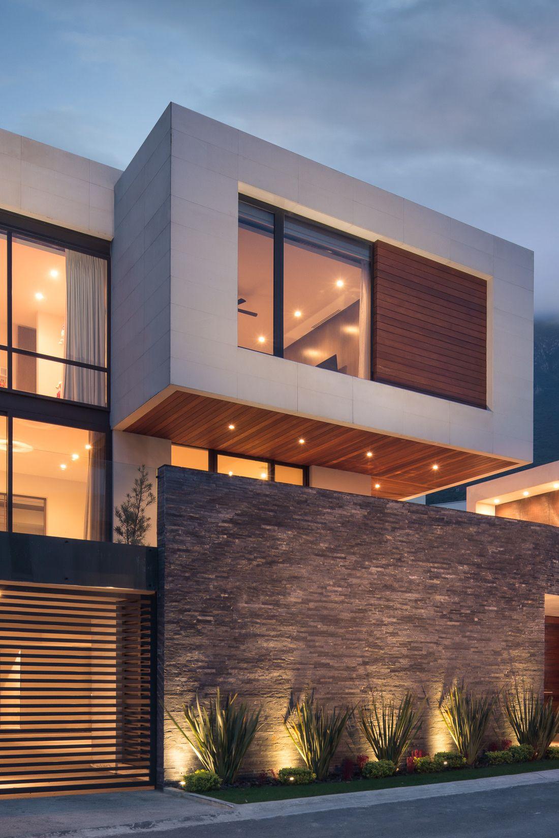 fachada casa. piedra. iluminacion. | home decor in 2018 | pinterest