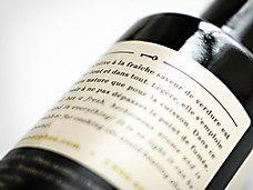 bottle label closeup