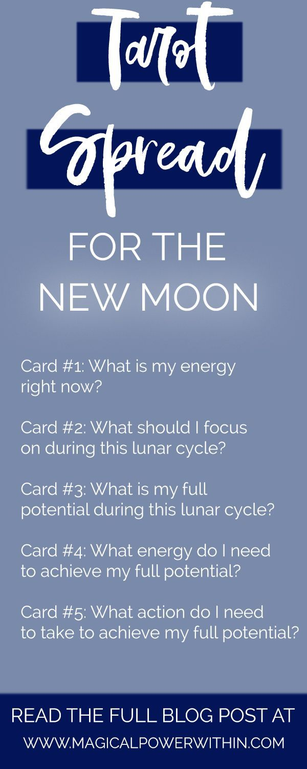 Tarot Spreads for Every Moon Phase #fullmoontarotspread