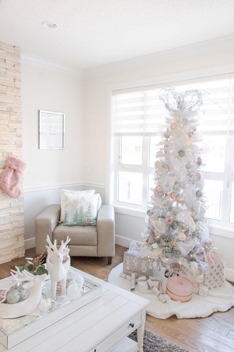 Pretty Pastel Christmas Decor White