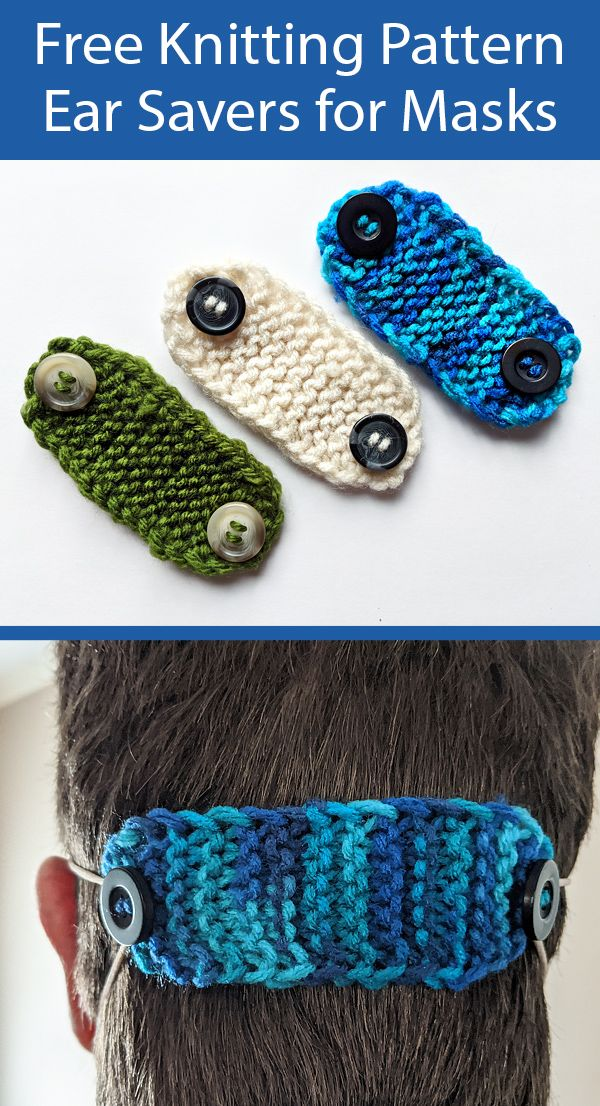 Photo of Free Knitting Pattern for Ear Savers for Masks – Great Stashbuster