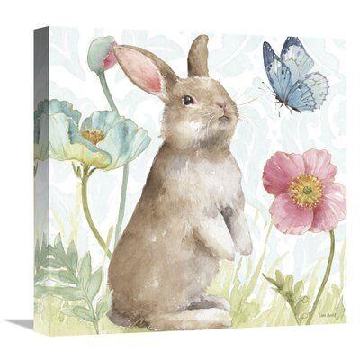 East Urban Home 'Spring Softies Bunnies II' - Wrap