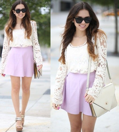 Romantic lace and lavender