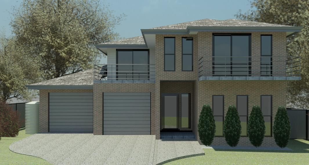 The cherry brush double storey house plan home plan for Double storey house plans in south africa