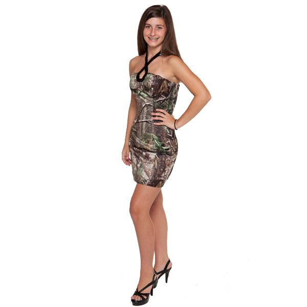 Realtree Sequin Halter Short Formal Dress But I Really Really Want