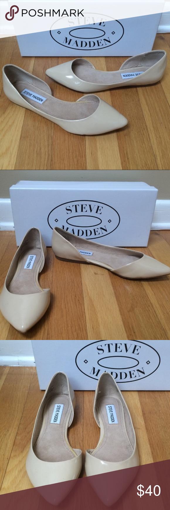 9fd89ae3654 STEVE MADDEN 'Elusion' Blush Patent d'orsay Flats STEVE MADDEN ...