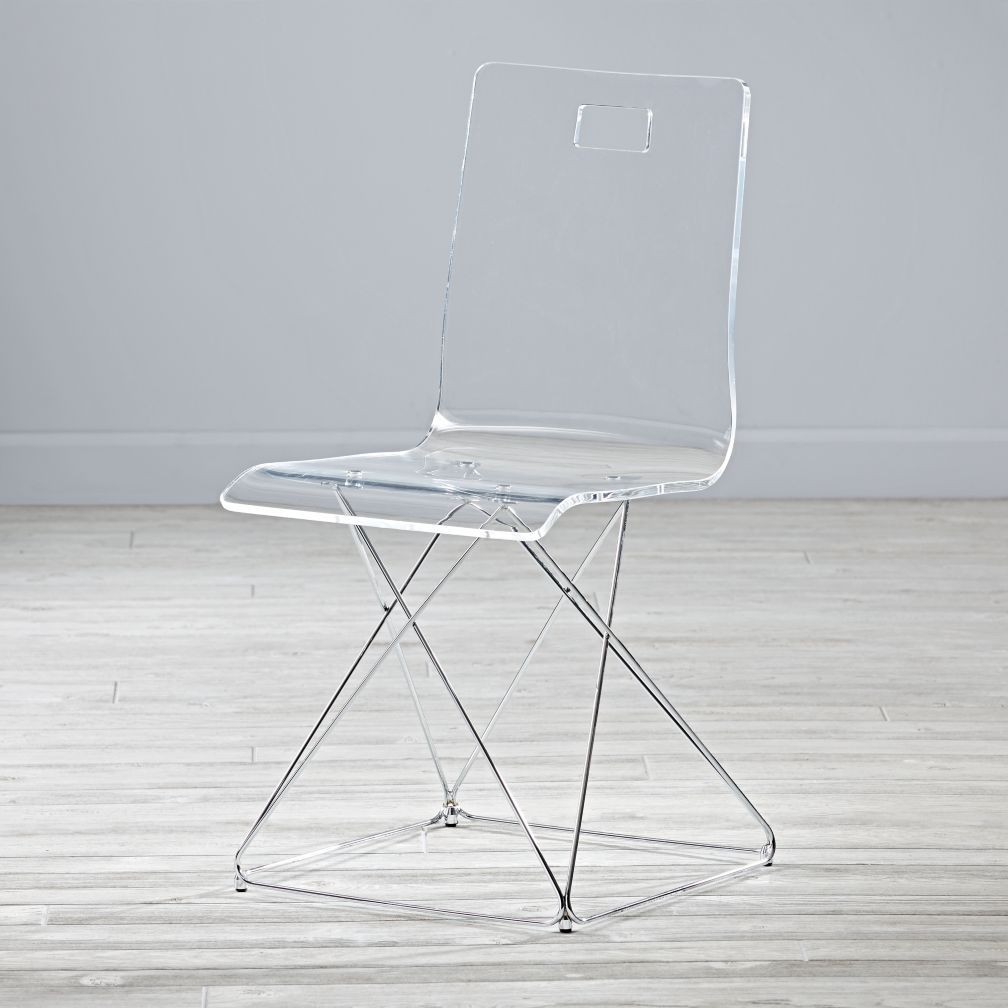 Miraculous Kids Now You See It Acrylic Desk Chair With Silver Base Alphanode Cool Chair Designs And Ideas Alphanodeonline