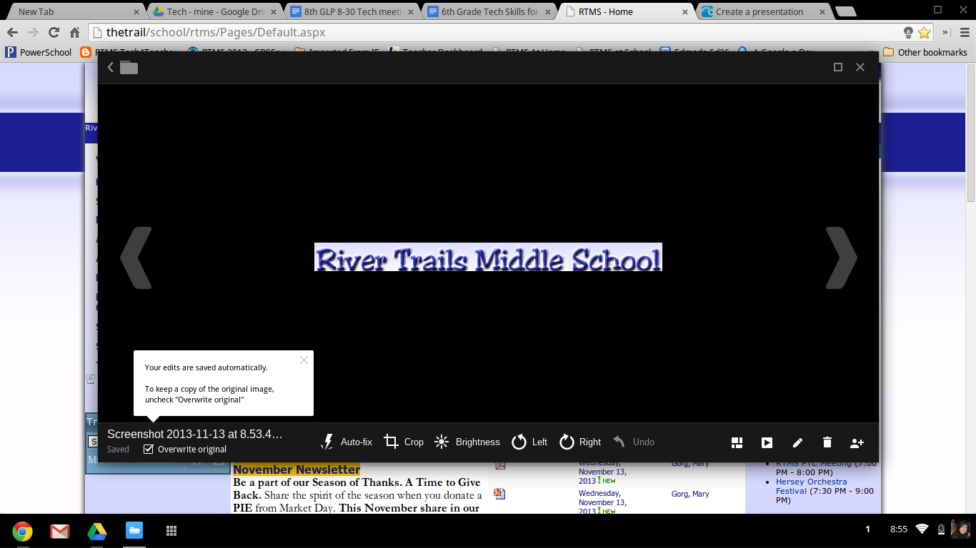 Rtms Tech4teachers Snipping Tool On A Chromebook Snipping Tool Teaching Info Chromebook