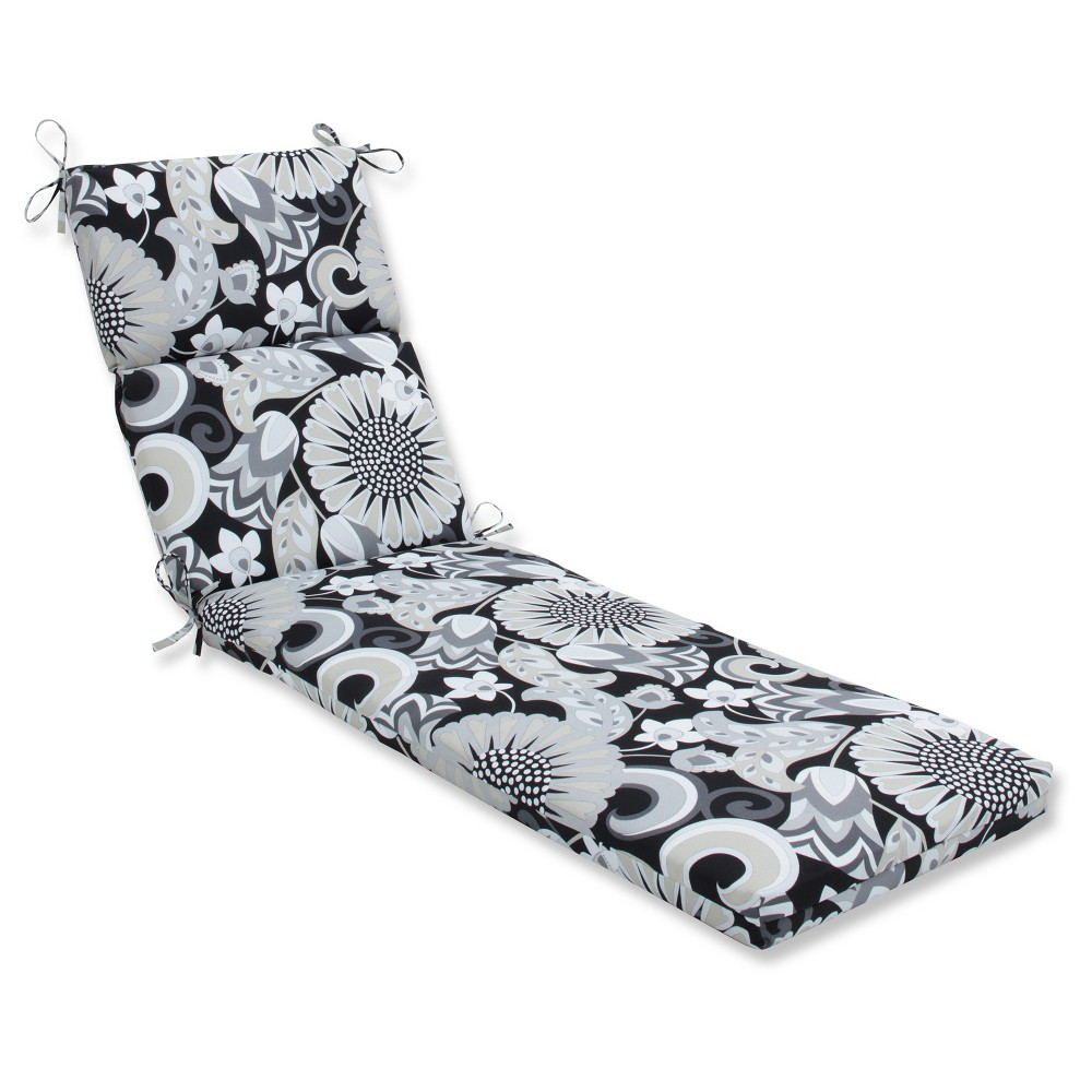 Outdoor Indoor Sophia Black Chaise Lounge Cushion Pillow