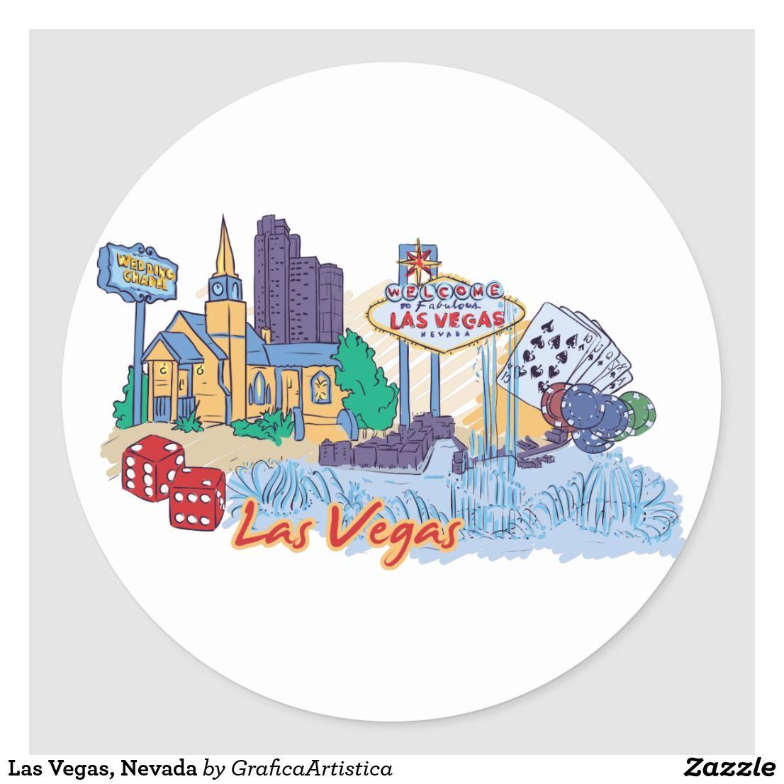 Las Vegas Nevada Classic Round Sticker Zazzle Com In 2021 Work Stickers Las Vegas Round Stickers [ 1106 x 1106 Pixel ]