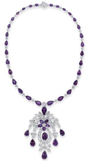 Alexandrite and Diamond Necklace Christie's